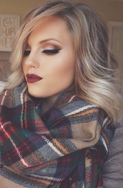 This scarf and makeup