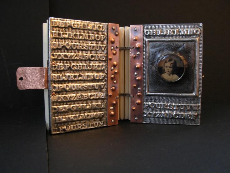 Pewter Metal Book  Gaye Medbury: Books Art, Art Books, Artists Books, Altered Books Bookbinding, Books Interesting, Books Gay, Altered Books Journ, Books Structure, Books Binding