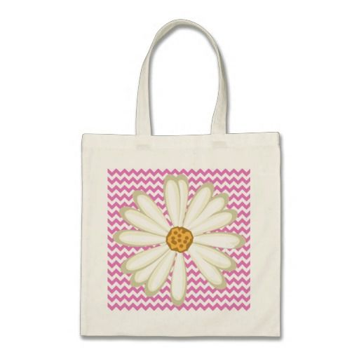 Chevron Daisy Baby Bag Grocery Pattern Pink
