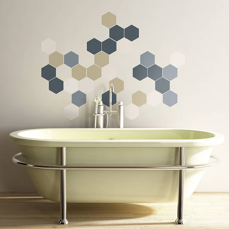 Geometric Hexagons Wall Stickers Part 81
