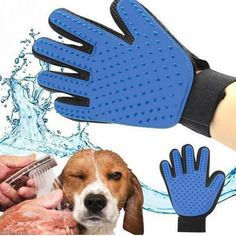 Gant attrape poil pour animaux-chien-chat-bleu et noir