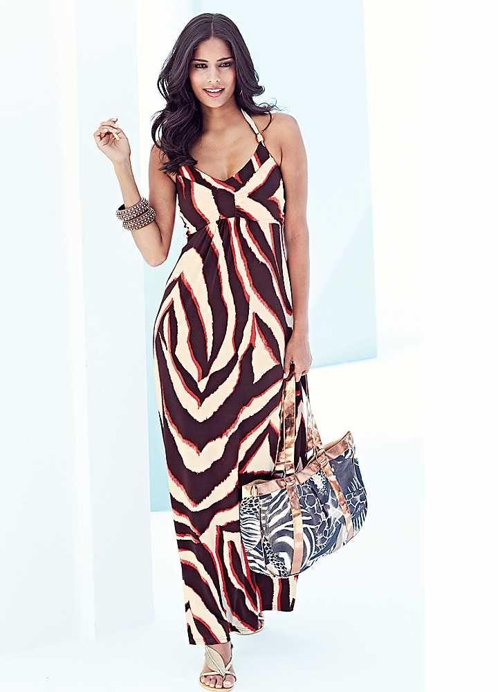 Zebra Print Beach to Bar Dress