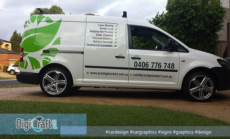 We also do designs/graphics for car.  #cargraphics #signs #graphics #design #gardening  Give us a call (02) 9567-4482 visit us http://www.digicraftprint.com.au/