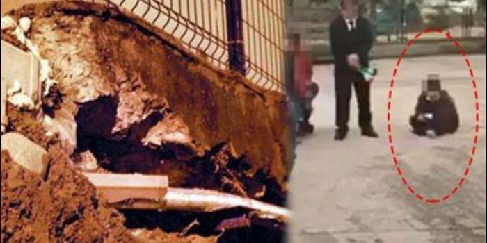 Öğrenciyi beton zemine oturtan müdür tanıdık çıktı!