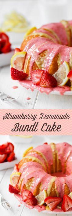 Strawberry Lemonade Bundt Cake -- SO SUMMERY!! I love the tart/sweet combo.