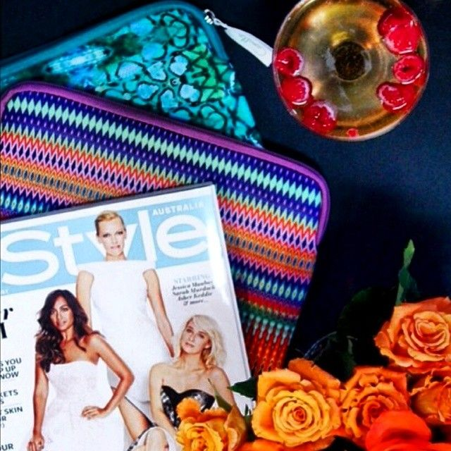 Fridays should always include bubbles and blooms! We love this shot of our June issue with the limited-edition InStyle x Camilla iPad case and clutch. Show us how you're using yours and tag #InStylexCamilla Regram: @Amanda Viljoen