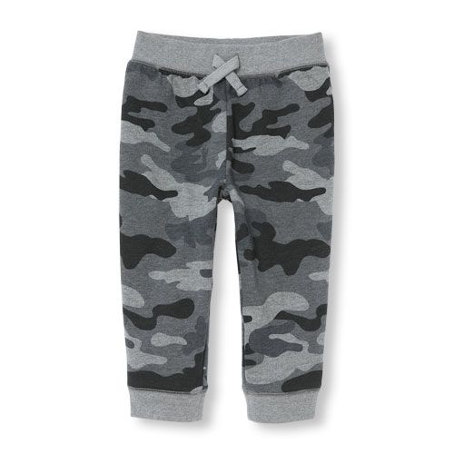 Baby Boys Toddler Boys Camo Print Fleece Camo Jogger Pants - Gray - The Children's Place