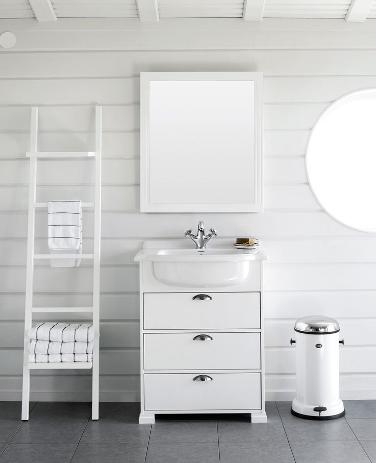 SVEA vanity unit. SVEA mirror. SVEA ladder chalk.