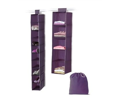 The 3-Piece College Closet Set - Eggplant is a supply for college that's a useful dorm item. When choosing your stuff for college, include a product for dorms like this college closet organization set. This fun supply for college is a cool dorm stuff.