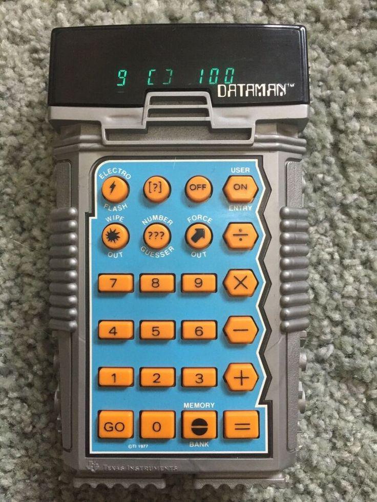 Texas Instruments DATAMAN Kid's Gaming Calculator Vintage