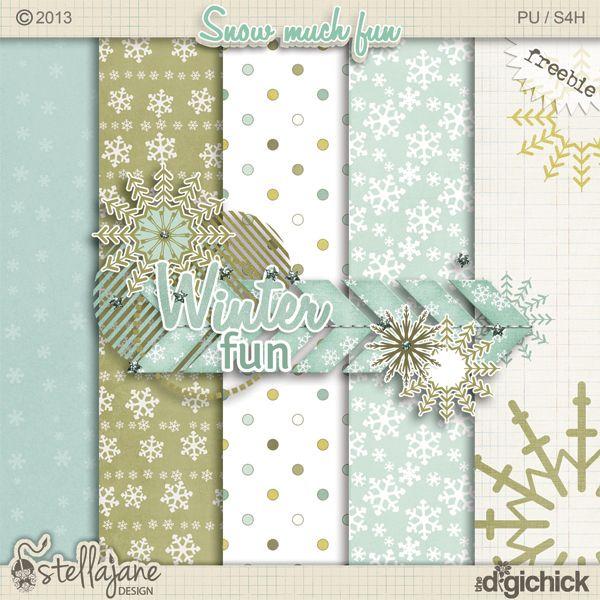Free freebie printable background patterned paper: snowflakes