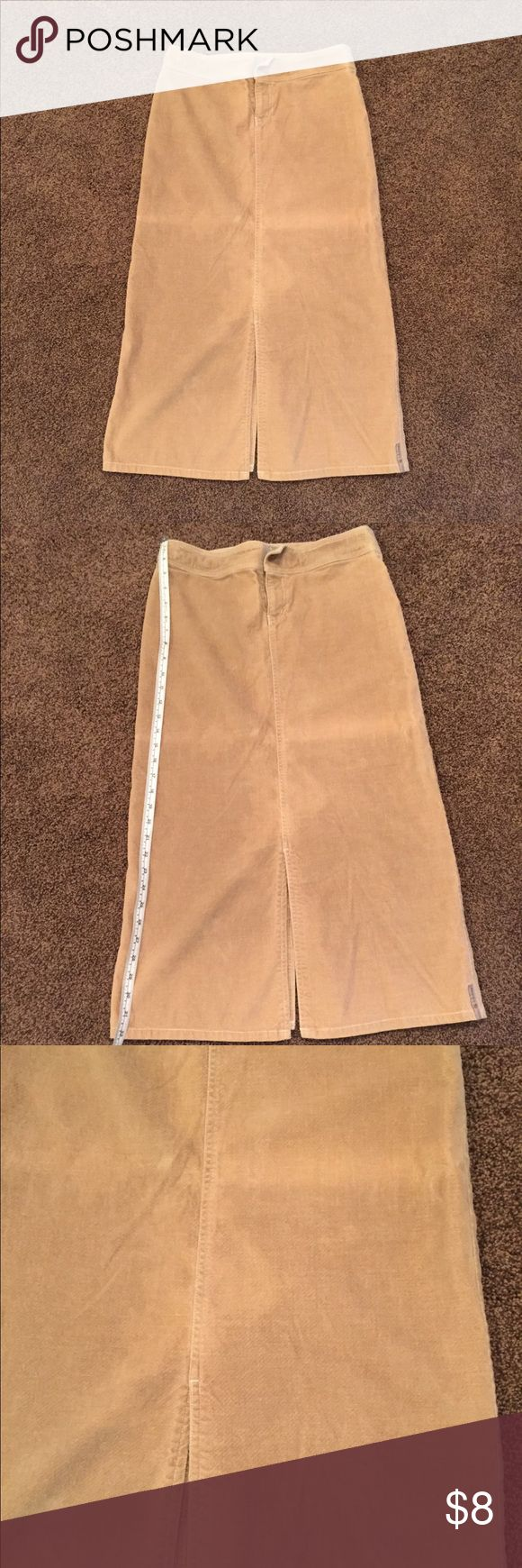Billabong Long Tan Brown Skirt Never worn. Long tan skirt 100% cotton. Feels like a soft corduroy. There are hanger marks that I haven't tried to wash out. Very cute. Motivated to sell!!! Send me an offer or I'm donating it 😊 Billabong Skirts A-Line or Full