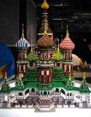 Along with the awesome Gingerbread House I posted earlier, this also would be something grand to have displayed.  15 Insane LEGO Creations | The Kremlin