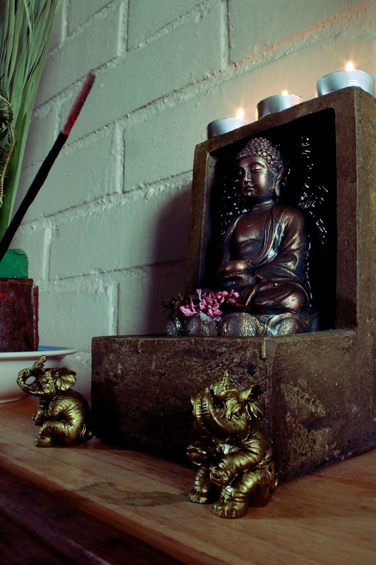 Meditating.