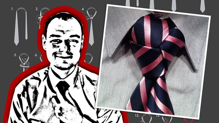 How to Tie a Necktie Trinity Knot ~this is the vid that taught me... mark arbo~