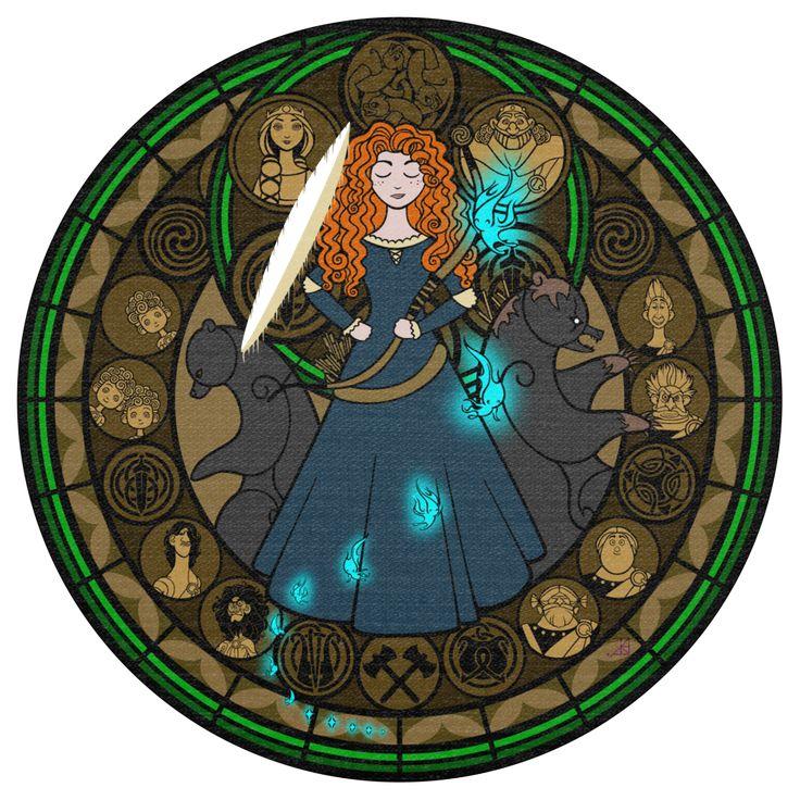 Personagens da Disney em estilo Vitral! | | Garotas Geeks