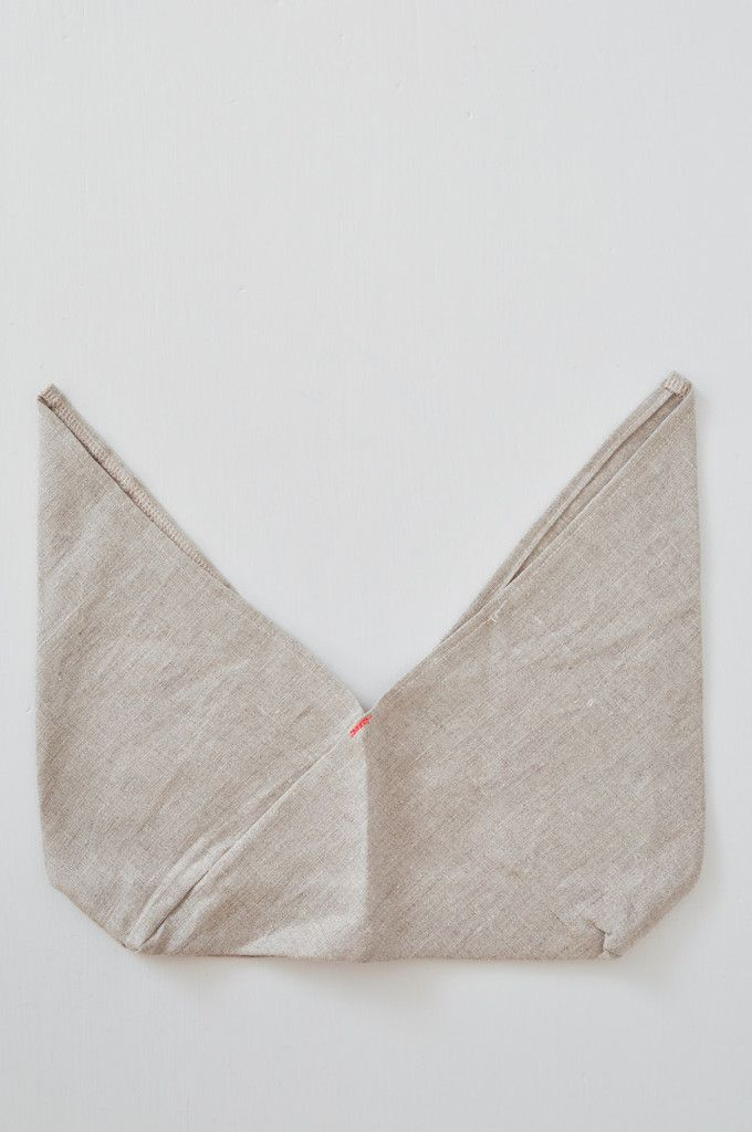 Bento Bag - Natural Linen - handmade in California - great for kitchen storage or market shopping.