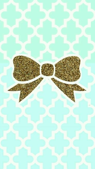 Glitter bow with pastel background