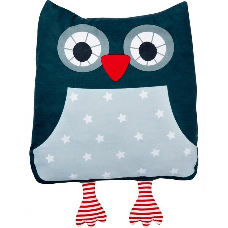 Franck & Fischer Marta blue owl cushion at Nordic Kids