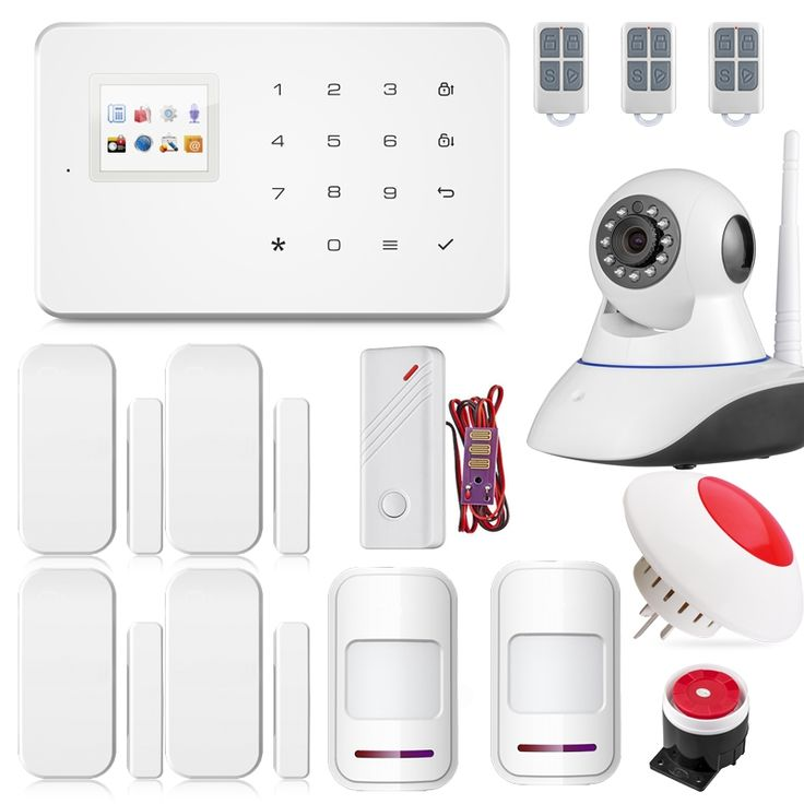(139.99$)  Buy here - http://aiyox.worlditems.win/all/product.php?id=32777748547 - Android ISO app Wireless GSM Text Home Alarm System Smart IP Security Camera with PIR Sensor Door gap Smoke Detector