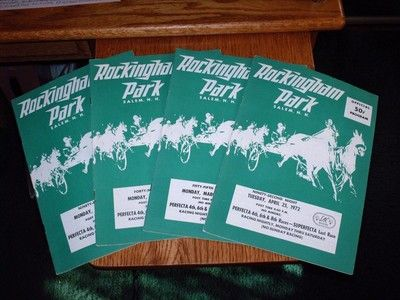 4 ROCKINGHAM PARK 1972 Harness Horse Racing Programs PACEALONG TIME TRAVELIN BOY (07/10/2015)