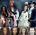 Pirates of the Caribbean dolls