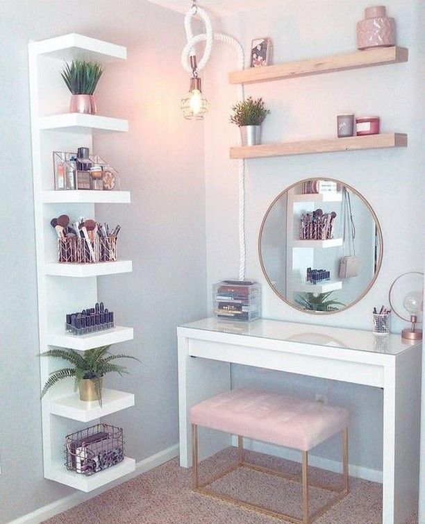 Cute and compact, this well organised vanity dresser has everything at arm's… – Marika Barreca