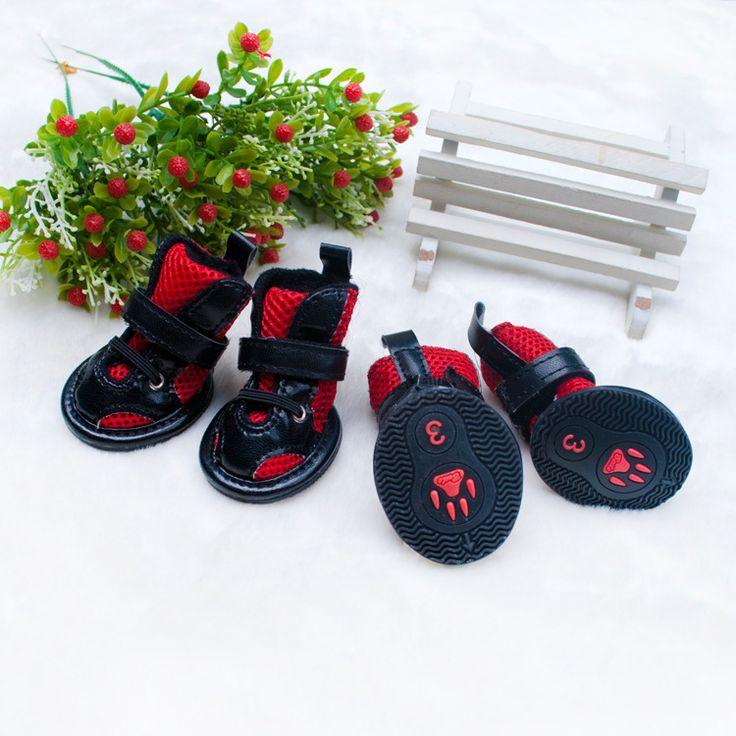 Обувь для собак pet маленьких собак PU обувь тедди vip поморское мода животное обувь круто-устойчивых
