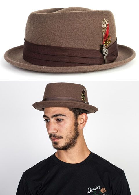 12d26ca63fe ... low cost stout pork pie hat by brixton light brown brixton hats  clothing 98ef7 7c44d