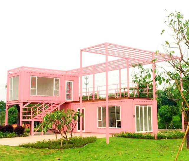 Shipping Container Homes & Buildings: Pink Villa