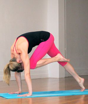 10 Fat-burning Yoga poses. Ten hot moves that will burn fat and calories. Slightly advanced, but something for beginners to work toward! Printable version available.