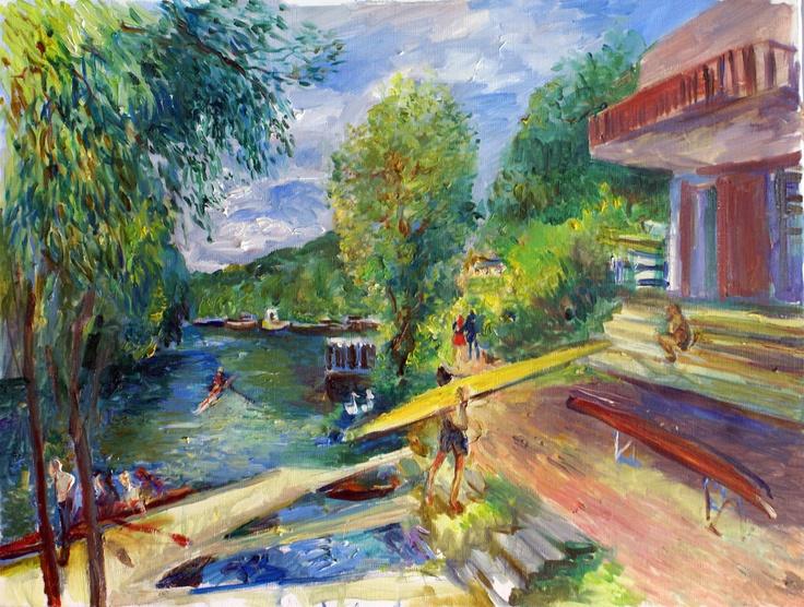 Canotier bord de seine bateau chatou t yvelines for Promenade yvelines