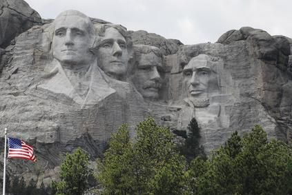 South Dakota's Mount Rushmore is among the world's most famous granite monuments.