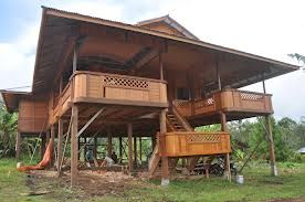 Traditional Wooden House Of Minahasan