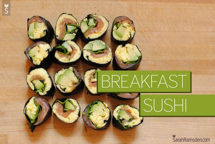 Breakfast Sushi  #sushi #21dsd #breakfast