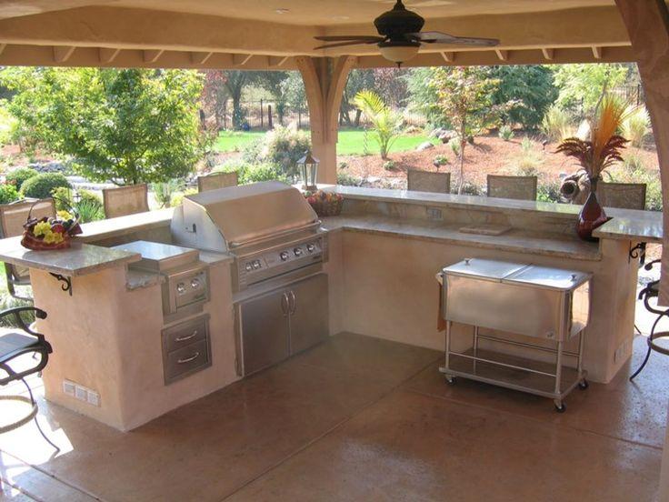 Split Level Outdoor Kitchen Outdoor Kitchen Simple Elegance Rocklin, CA. Outdoor  KücheKochen Im FreienWohnen ...