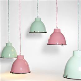 Etalage Decoratie Display - Hanglamp 'Industrial' 39cm mintgroen (700-501)