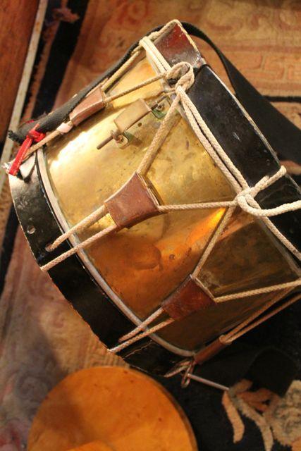 ancien tambour, fut en cuivre.