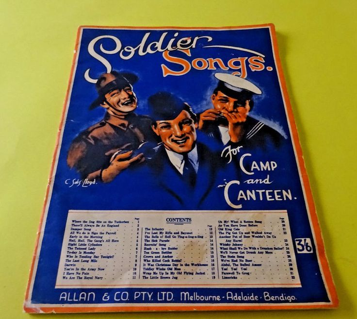 WW2, 1941 Soldier Songs  For Camp And Canteen 32 Page Song & Music Book