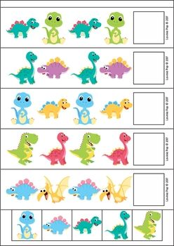 Dinosaur Preschool Centers. Patterns.