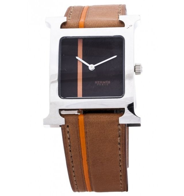 Hermes Stainless Steel H-Hour Ladies Watch