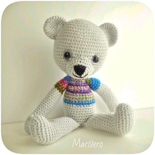 ami-bear グレイ/ 編みぐるみのクマさん