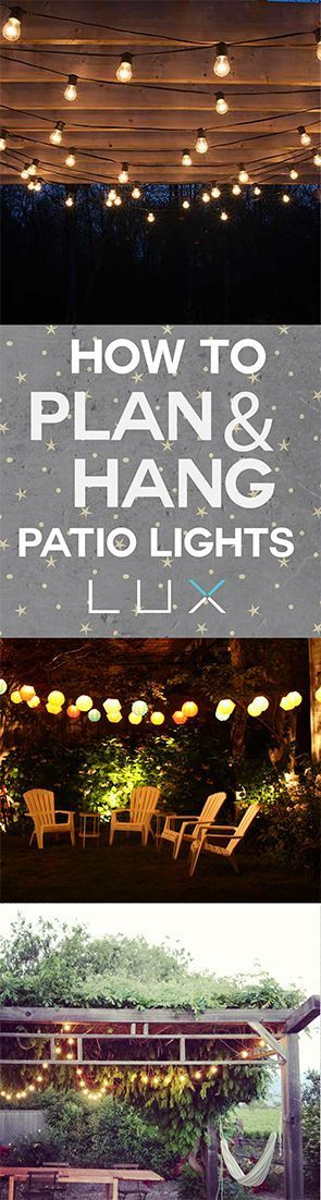 The easiest DIY way to hang patio lights.