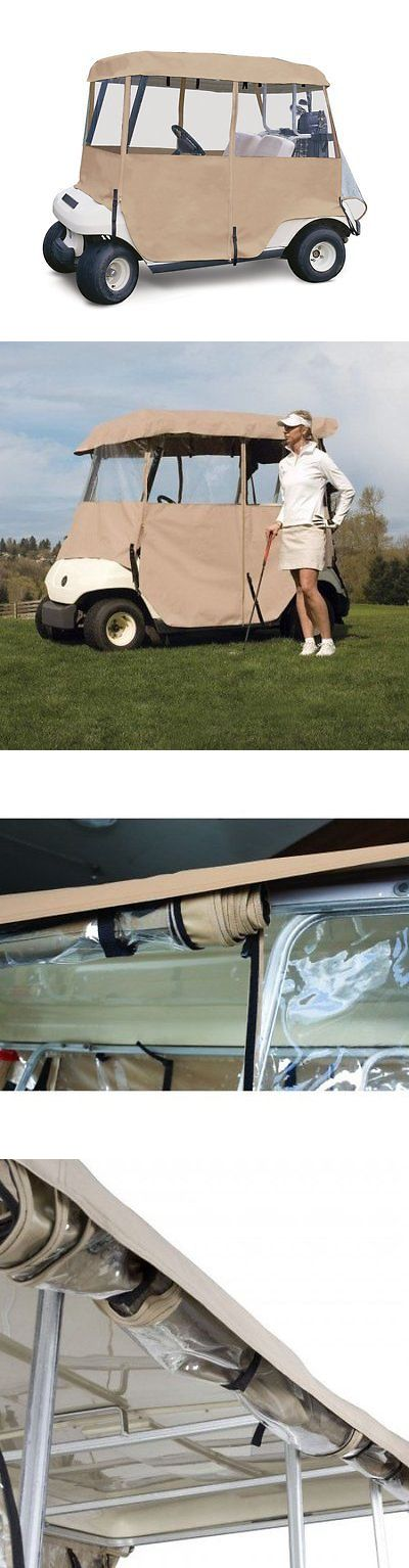 Other Golf Accessories 1514: Classic Accessories Fairway Deluxe 4-Sided 2-Person Golf Cart Enclosure, Tan -> BUY IT NOW ONLY: $121.4 on eBay!