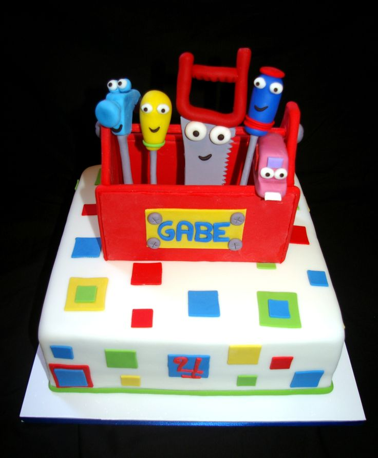 14 best handy manny cake images on pinterest birthday for Handy manny decorations