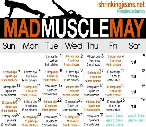 30 day arm challenge | Day 31 – May workout challenges – abs and arms – February…