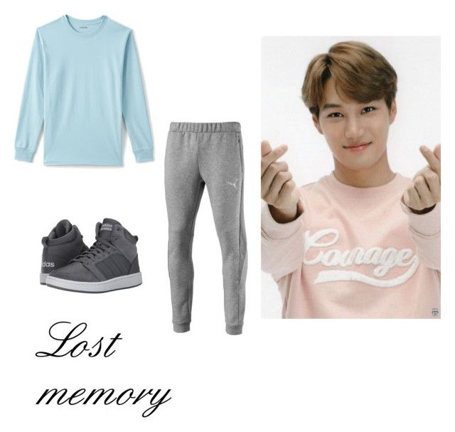 """""""Kai's casual wear"""" by pantsulord on Polyvore featuring Puma, Lands' End, adidas, men's fashion and menswear"""