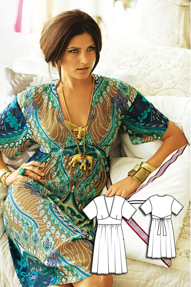 Kimono Dress 06/2010 #burdastyle #sewingpattern #sewing #diy
