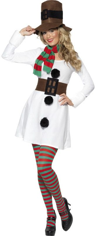 Snow Woman Costume. halloween jingle bell run snowman outfit