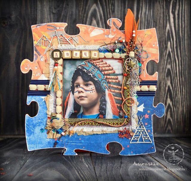 """Bee Shabby: Фоторамка для озорника-индейца """"Апачи"""""""